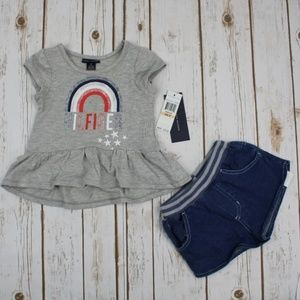 2-Pc. Graphic-Print Tunic & Shorts Set, Girls 2T